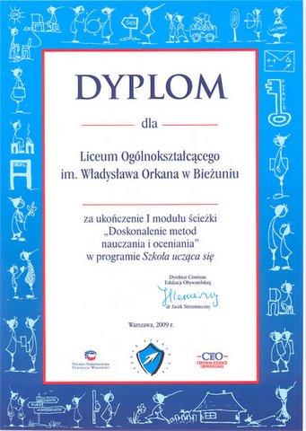 Certyfikat - I moduł