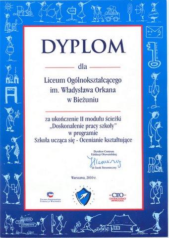 Certyfikat - II moduł